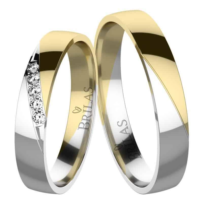snubní prsteny kombinové