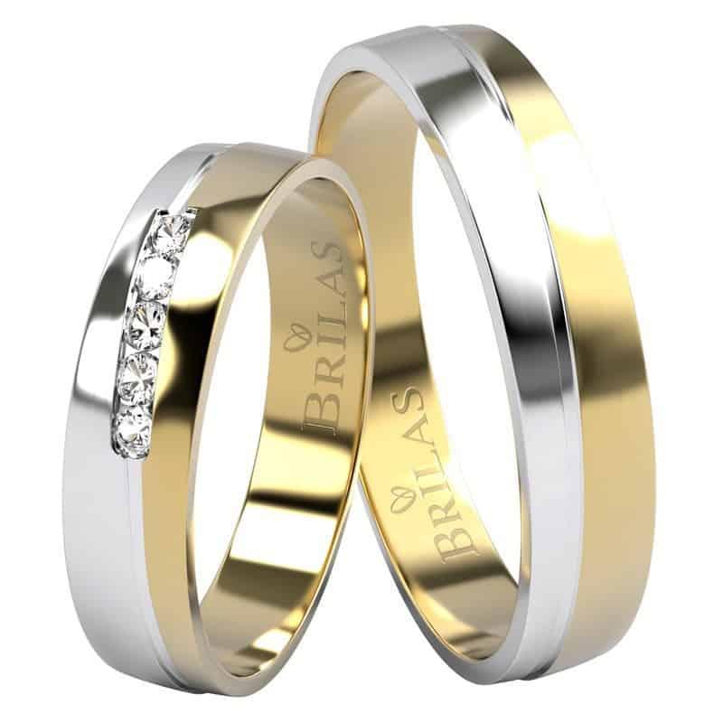 snubní prsteny kombinované