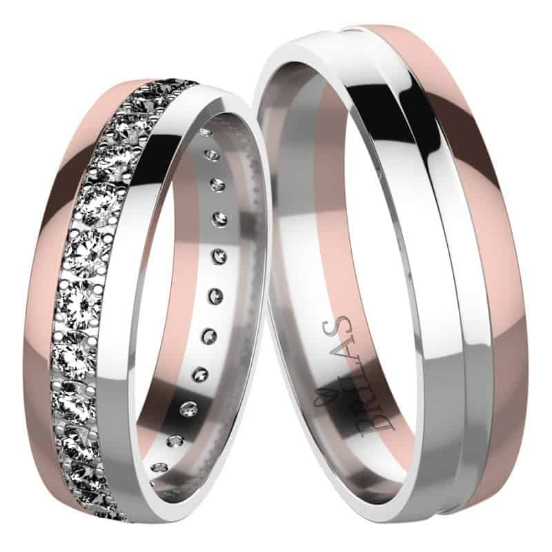 snubní prsteny kombinované zlato